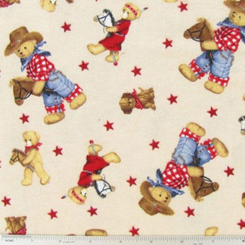Boy With Horse Nursery Print Fabric