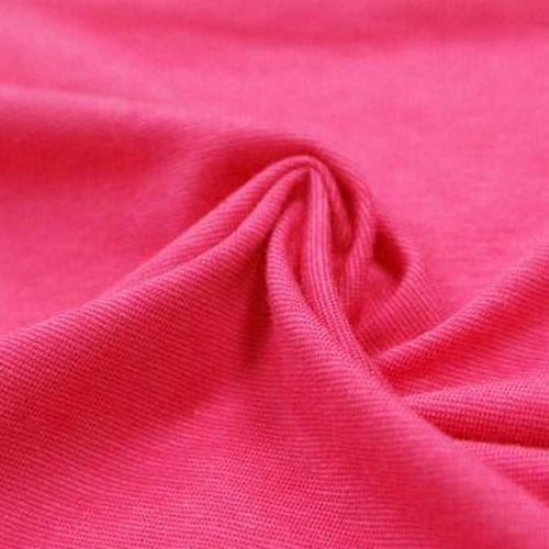 Pinkj color cotton lycra fabric
