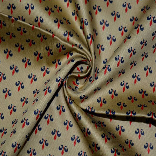 Red blue printed fabric