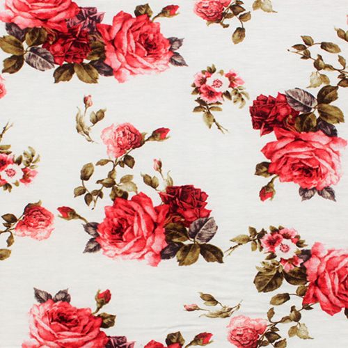 Red rose bouquet fabric roses