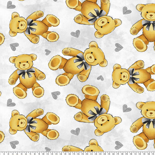 Teddy bear Nursery Print Fabric