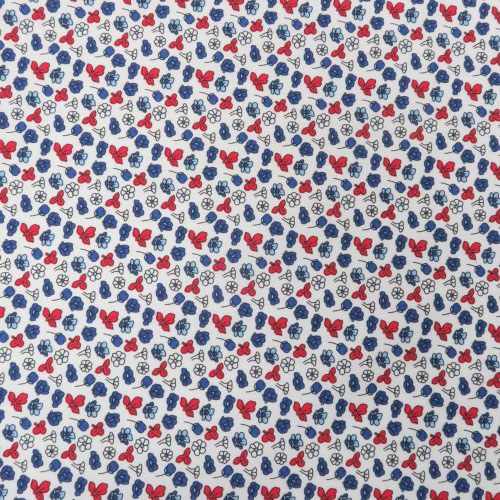multi color design printed fabric