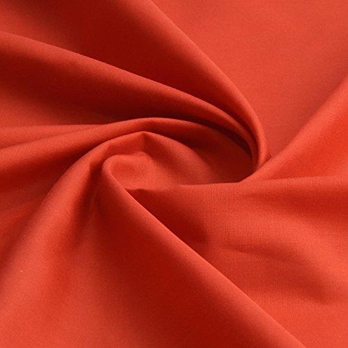 red plain febric